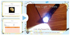 Australia - How Light Travels Differentiated Lesson Teaching Pack