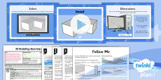 PlanIt - Computing Year 5 - 3D Modelling SketchUp Lesson 2: Detail Lesson Pack