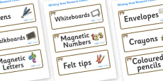 Bobcat Themed Editable Writing Area Resource Labels