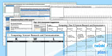 PlanIt - Computing Year 3 - Internet Research and Communication Assessment Pack