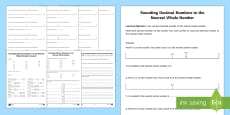 Rounding Decimals Activity Sheet