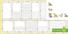 Page Border Pack to Support Teaching on The Gruffalo's Child