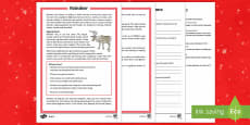 KS2 Reindeer Differentiated Reading Comprehension Activity