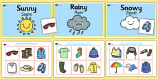 Weather Clothes Sorting Activity Romanian Translation