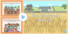 The Farmer and His Sons PowerPoint