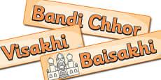 Sikhism Celebration Display Banner Pack