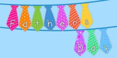 Tie Shaped Father's Day Display Bunting