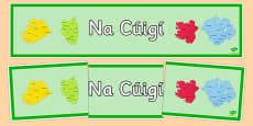 Irish Provinces of Ireland Banner Gaeilge