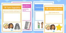Classroom Monitor Display Signs Weekly Polish