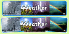 Weather Photo Display Banner