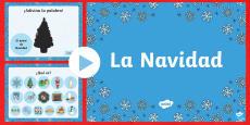 Christmas Vocabulary PowerPoint Spanish / Español