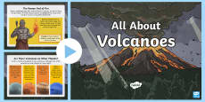 * NEW * All About Volcanoes Information PowerPoint