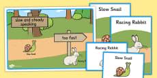 Slower Speech Visual Support