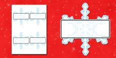 Self Registration Snowflakes Editable