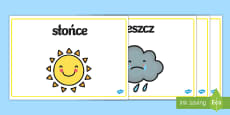 Plakaty ze słownictwem Pogoda