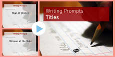 Ten Titles for Writing Prompts