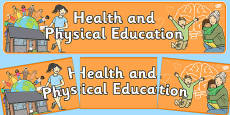 Health and Physical Education Display Banner NZ