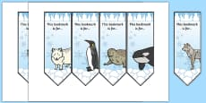 Polar Animals Bookmarks