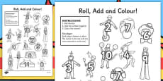 Circus Roll and Colour Worksheet