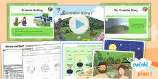 PlanIt - RE Year 2 - Nature and God Lesson 1: Creation Story 1 (Christianity) Lesson Pack