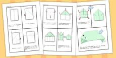 Origami Activity Sheet Frog
