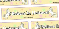 I Believe In Unicorns Display Banner