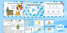 PlanIt Y2 Fractions Lesson Pack Fractions of a Shape or Set of Objects (4)