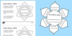 MFL Welsh Colour Flowers Activity Sheet
