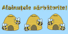 Albinuțele sărbătorite - Planșe aniversare
