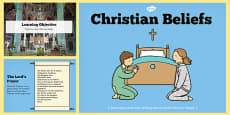 Christian Beliefs Teaching And Task Setting PowerPoint