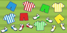 Football Kit Cut Outs