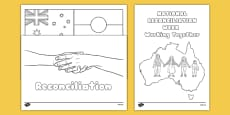 National Reconciliation Week Colouring Sheets