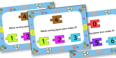 Number Bonds To Five Jigsaw PowerPoint