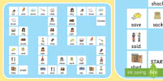 'sh' and 's' Minimal Pair Board Game