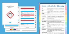 Acids and Alkalis Glossary
