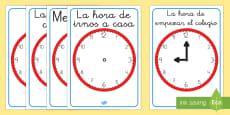 Relojes de exposición de encuadernadores