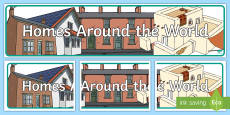 Homes Around the World Banner