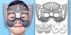 3D Mythical Superhero Mask Printable