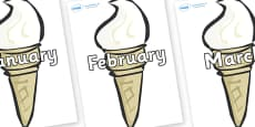Months of the Year on Ice Creams