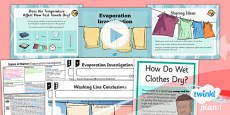PlanIt - Science Year 4 - States of Matter Lesson 5: Evaporation Investigation Lesson Pack