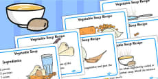 Simple Vegetable Soup Recipe Cards
