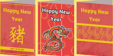 Chinese New Year Greeting Cards - Australia