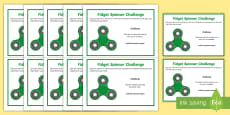 * NEW * KS2 Fidget Spinner Thinking Skills Challenge Cards