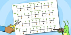 The Ant and the Grasshopper Number Lines 0-10