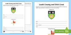 * NEW * Louth County and GAA Crest Activity Sheet