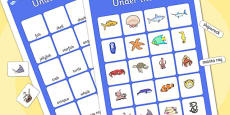 Under the Sea Vocabulary Matching Mat