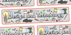 Design and Technology Display Banner
