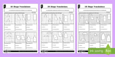 2D Shape Translations Differentiated Activity Sheets