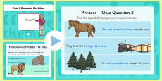 Year 6 Grammar Revision Guide and Quick Quiz Phrases
