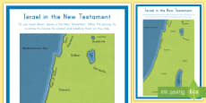 * NEW * Israel in the New Testament Map